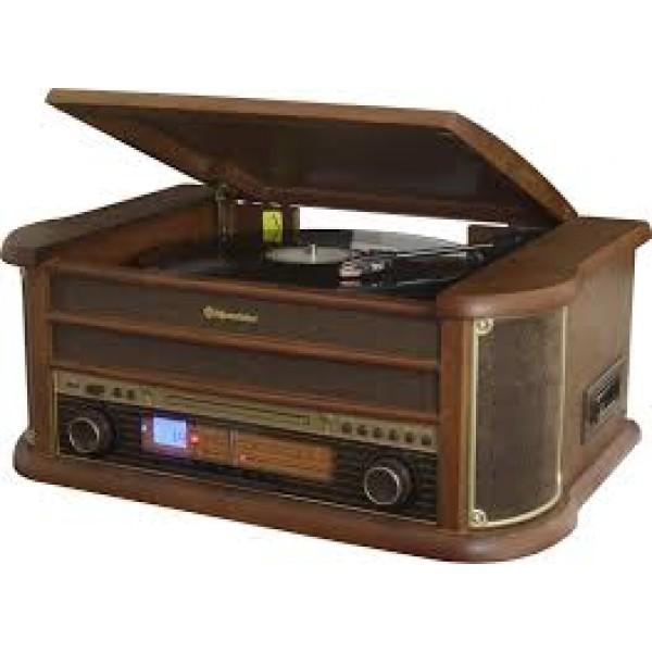 Roadstar HIF-1993BT Retro Σύστημα Ήχου Πικάπ,CD,Ραδιόφωνο,Κασσετόφωνο,USB,Bluetooth